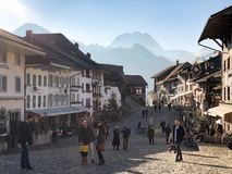 The medieval city of Gruyeres, Switzerland royalty free stock images