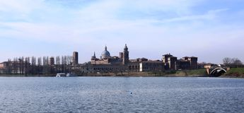 Medieval city of Mantua, Italy Royalty Free Stock Photos