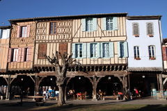 Medieval city of Mirepoix Stock Image