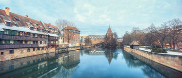 Medieval city Nuremberg, Germany Royalty Free Stock Images