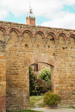 The medieval city oof Buonconvento in Tuscany Stock Images