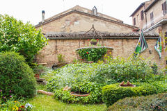 The medieval city oof Buonconvento in Tuscany Royalty Free Stock Photos