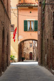 The medieval city oof Buonconvento in Tuscany Royalty Free Stock Photo