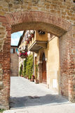 The medieval city oof Buonconvento in Tuscany Stock Photo