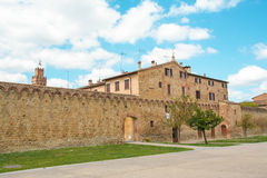 The medieval city oof Buonconvento in Tuscany Stock Image