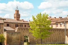 The medieval city oof Buonconvento in Tuscany. The medieval city of Buonconvento in Tuscany, one of most beautiful burgs in Italy Royalty Free Stock Images