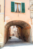 The medieval city oof Buonconvento in Tuscany Royalty Free Stock Images