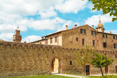 The medieval city oof Buonconvento in Tuscany Stock Photos