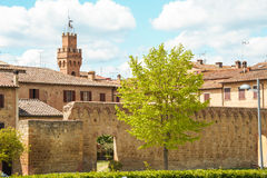 The medieval city oof Buonconvento in Tuscany. The medieval city of Buonconvento in Tuscany, one of most beautiful burgs in Italy Royalty Free Stock Photography