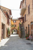 The medieval city oof Buonconvento in Tuscany. The medieval city of Buonconvento in Tuscany, one of most beautiful burgs in Italy Stock Image