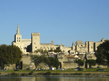 Medieval city and Popes Palace in Avignon, France Royalty Free Stock Images