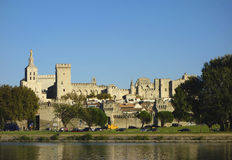 Medieval city and Popes Palace in Avignon, France Stock Image