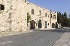 Medieval city of Rhodes at Greece Royalty Free Stock Image