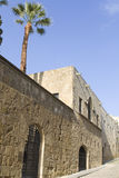 Medieval city of Rhodes at Greece Stock Images