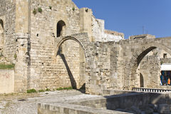 Medieval city of Rhodes at Greece Royalty Free Stock Photos