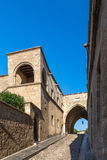 Rhodes old town, Avenue of the Knights. Medieval City of Rhodes, Greece, Avenue of the Knights Stock Images
