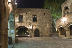 Medieval city of Rhodes island Stock Photo