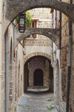 Medieval city of Rhodes island, Greece Royalty Free Stock Image