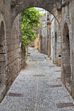 Medieval city of Rhodes island, Greece Stock Photos