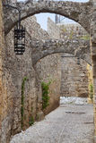 Medieval city of Rhodes island, Greece Stock Images