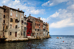 Medieval City of Rovinj in the Morning Royalty Free Stock Photos