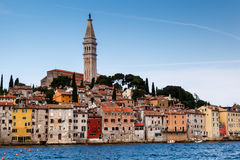 Medieval City of Rovinj and Saint Euphemia Cathedral Royalty Free Stock Photos