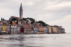 Medieval City of Rovinj and Saint Euphemia Cathedral Stock Photo