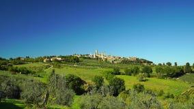 Medieval city San Gimignano panoramic view, Tuscany. Italy stock video