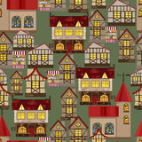Medieval city seamless pattern Royalty Free Stock Image