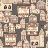 Medieval city seamless pattern Royalty Free Stock Photo