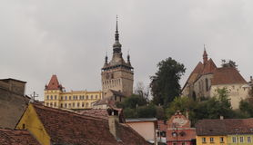 Medieval city of Sighisoara Stock Images