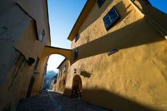 Medieval city of Sighisoara in Transylvania, Romania stock photography