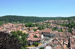 Medieval city. The medieval city, Sighisoara, the view from the Clock Tower Royalty Free Stock Photo