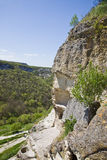 Chufut-Kale, spelaean city - fortress Stock Photo