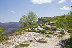 Chufut-Kale, spelaean city - fortress Royalty Free Stock Images