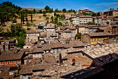 Medieval city Urbino in Italy. Urbino is a walled city in the Marche region of Italy, medieval town on the hill Stock Photo