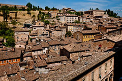 Medieval city Urbino in Italy. Urbino is a walled city in the Marche region of Italy, medieval town on the hill Stock Image