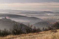 Medieval city of Veliko Tarnovo in Bulgaria at sun Stock Images