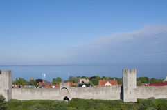 Medieval city Visby Royalty Free Stock Photography