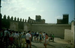 Medieval city wall in Fez Stock Photo