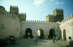 Medieval city wall in Fez Stock Photos