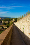 Medieval city wall, Girona, Spain Stock Images