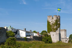 Medieval city wall of Visby Royalty Free Stock Image