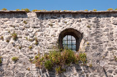 Medieval city wall with window Royalty Free Stock Images