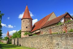 Medieval city walls Stock Image