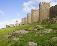 Medieval City Walls Royalty Free Stock Images