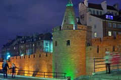 Old Town fortifications - Warsaw, Poland. Stock Images