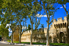 Medieval City Walls, Avignon, France Royalty Free Stock Photo