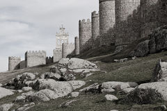 Medieval city walls of Avila Royalty Free Stock Image