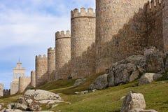 Medieval city walls of Avila Stock Photo